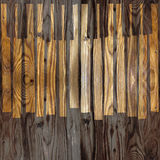 Abstract musical piano keys - seamless background - wooden surfa Stock Images