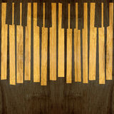 Abstract musical piano keys - seamless background - wooden surfa Stock Image