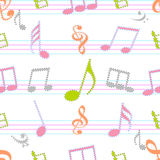 Abstract musical seamless pattern. Royalty Free Stock Image