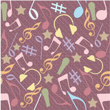 Abstract musical seamless pattern. Stock Images