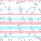 Abstract musical seamless pattern. Royalty Free Stock Photo