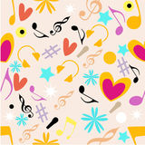 Abstract musical seamless pattern. Stock Photo