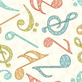 Abstract musical seamless pattern. Stock Photography