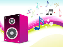 Abstract musical sound background Stock Photos