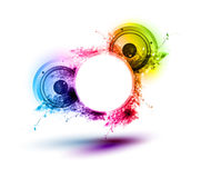 Abstract musical speakers background Royalty Free Stock Photos