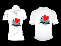 Abstract musical tshirt design Royalty Free Stock Photography
