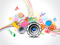 Abstract musical wave background with sound. Vector illustration Royalty Free Stock Image