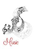 Abstract musical waves composition design Stock Images