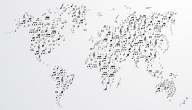 Abstract musical world background Royalty Free Stock Photography