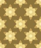 Abstract muslim gold flowers seamless pattern. Abstract muslim gold flowers seamless pattern for design stock illustration