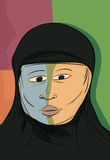 Abstract Muslim Woman Royalty Free Stock Photo