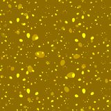 Abstract mustard colored hand drawn floral seamless patte. Rn on a gold background. For the design of fabrics and paper in summer and floral style Stock Photo