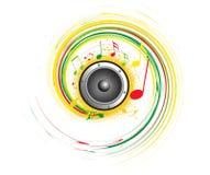 Abstract muziek creatief ontwerp Royalty-vrije Stock Afbeelding