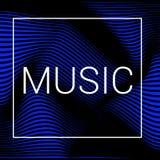 Abstract muzieknetwerk royalty-vrije illustratie