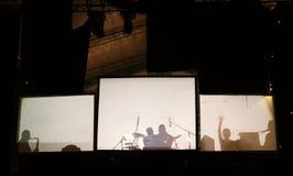 Abstract muziekoverleg Stock Foto