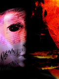 Abstract muziekthema (dekking of programmakunst) Stock Foto's