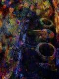 Abstract muzikaal instrument Stock Foto's