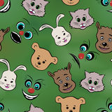 Abstract muzzles of animals and faces. Stock Images
