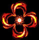 Abstract the mysterious red flower swirls in dark Royalty Free Stock Photos