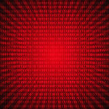 Abstract mystic binary code digits red lines background eps10 Royalty Free Stock Image