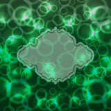 Abstract mystical green background with bokeh effect. Vector illustration Royalty Free Stock Photos