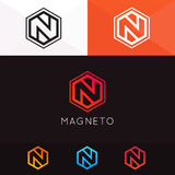 Abstract N letter emblem icon sign company logotype vector. N letter emblem icon sign company logotype vector design stock illustration