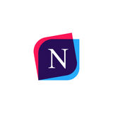 Abstract N letter logo company icon. Creative vector emblem bran Royalty Free Stock Photography