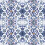Abstract naadloos acryl sierpatroon Naadloze textuur in impressionismestijl Royalty-vrije Stock Afbeeldingen