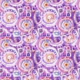 Abstract naadloos acryl sierpatroon Naadloze textuur in impressionismestijl voor Web, druk, omslagen, stof, textiel, Web stock illustratie