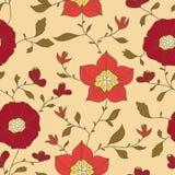 Abstract naadloos behang met bloemen Royalty-vrije Stock Afbeelding
