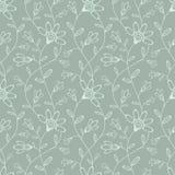 Abstract naadloos behang met bloemen Stock Foto's