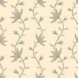 Abstract naadloos behang met bloemen Stock Afbeeldingen