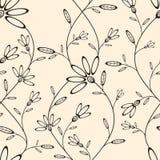 Abstract naadloos behang met bloemenpatroon Stock Fotografie