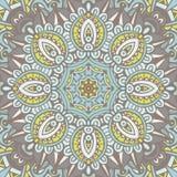 Abstract naadloos bloemen vectormandalamedaillon Stock Afbeeldingen