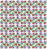 Abstract naadloos bloemenpatroon Royalty-vrije Stock Foto