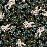 Abstract naadloos bloemenpatroon met vergeet-mij-nietje Royalty-vrije Stock Fotografie