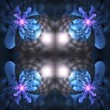Abstract naadloos bloempatroon op zwarte achtergrond Royalty-vrije Stock Foto