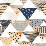 Abstract naadloos chaotisch patroon stock illustratie