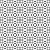 Abstract Naadloos Decoratief Geometrisch Zwart-wit Patroon Stock Fotografie