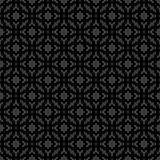 Abstract Naadloos Decoratief Geometrisch Zwarte & Gray Pattern Background Stock Afbeelding