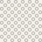 Abstract naadloos geometrisch die patroon van cirkels in vier worden verdeeld Royalty-vrije Stock Foto's