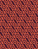 Abstract naadloos geometrisch die patroon van zeshoeken wordt gemaakt - vectoreps8 Stock Afbeeldingen