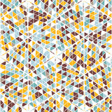 Abstract naadloos geometrisch hand-drawn patroon Stock Foto's