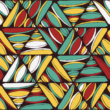 Abstract naadloos geometrisch hand-drawn patroon Stock Afbeeldingen