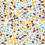 Abstract naadloos geometrisch hand-drawn patroon Stock Foto