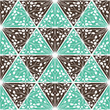 Abstract naadloos geometrisch hand-drawn patroon Royalty-vrije Stock Foto