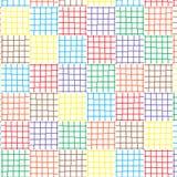 Abstract Naadloos Geometrisch Ornamentpatroon van van het de Lijnen Grafische Ontwerp van het Kleurennet Vectorillustratie Als ac Stock Foto