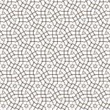 Abstract Naadloos Geometrisch Ornamentpatroon van het Ontwerp van Netlijnen Grafische Vectorillustratie Als achtergrond Stock Afbeelding