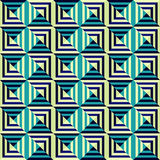 Abstract Naadloos Geometrisch Patroon Stock Afbeelding