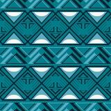 Abstract naadloos geometrisch patroon in blauwe en witte kleuren Stock Foto's